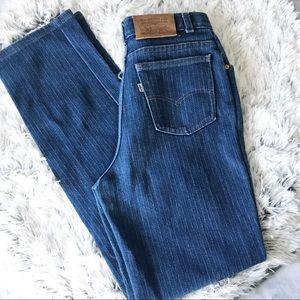 Vintage 573 Levi's Striped High Waist Jeans